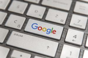 Google logo on a keyboard