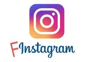 Instagram logo with F