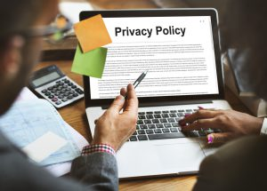"""""""Privacy Policy"""" on a laptop screen"""