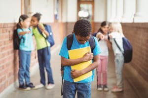 Picture of boy upset from bullying