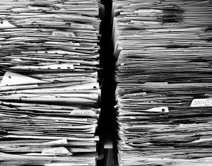 old file folders.