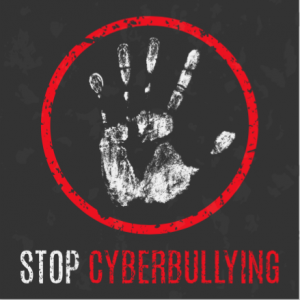 Stop cyberbullying graphic.
