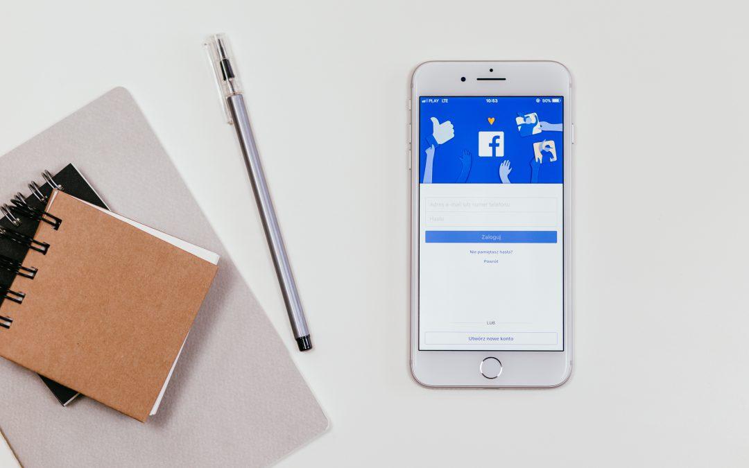 iphone shows facebook login screen