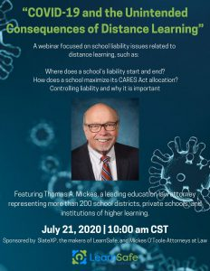 """""""COVID-19 and the Unintended Consequences of Distance Learning"""" Webinar Flyer"""