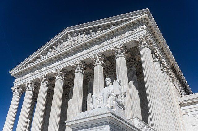 Exterior of the US Supreme Court building